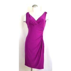 Ralph Lauren Size 6P Purple Dress Sleeveless Midi